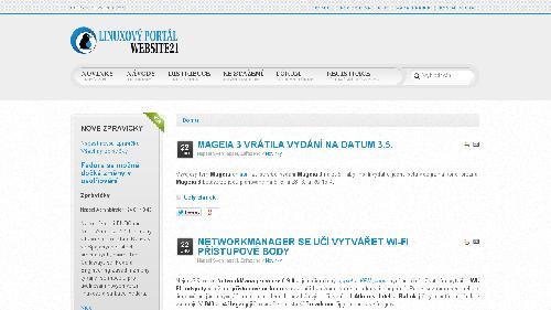 WebSite21 - linuxový portál